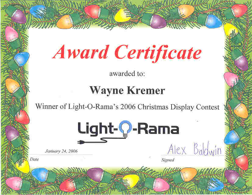 Light-O-Rama award